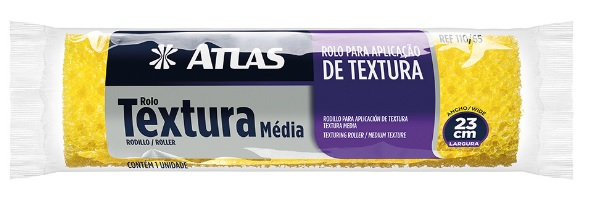 rolo atlas p. textura de espuma media 23cm 110 65