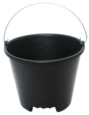 balde de plastico p. obra com 01 cavidade c. alca de metal 12 l brasipla