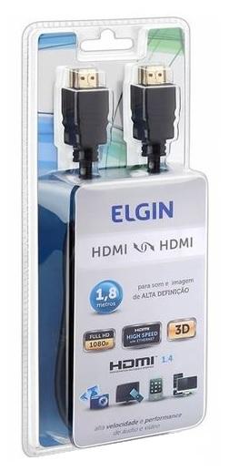 cabo hdmi hdmi digital 1.8m preto elgin