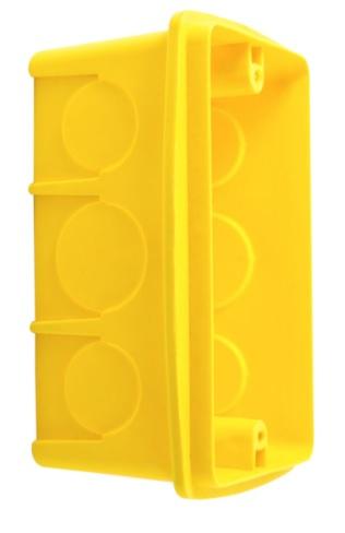 caixa 4x2 plastica reforcada amarela brasipla