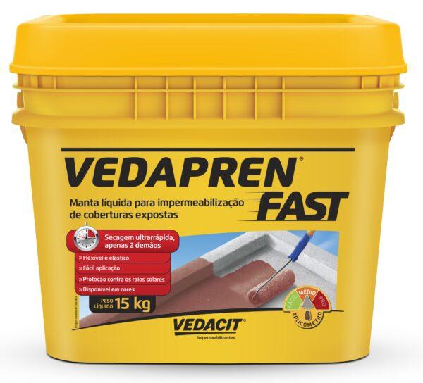 manta asfaltica liquida vedapren fast 15kg branco otto baumgart