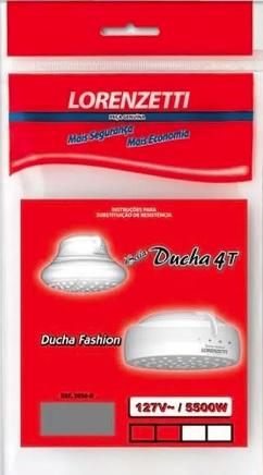resistencia lorenzetti bella ducha 4t fashion 5500w 127v 3056b 24