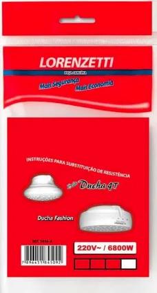 resistencia lorenzetti bella ducha 4t fashion 6800w 220v 3056a 48