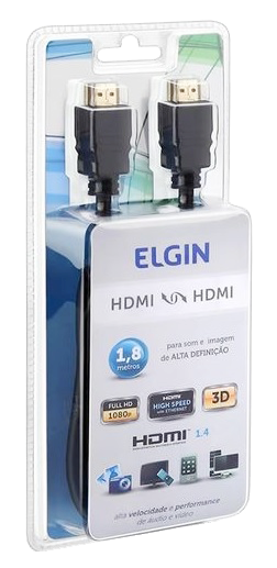 Cabo HDMI HDMI Digital 1.8M Preto Elgin