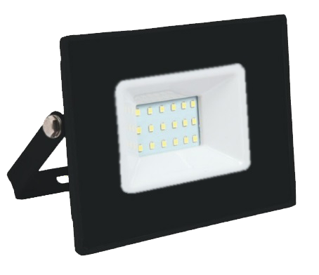 Refletor Taschibra Int.Ext . Super Led 6500K 20W Trled20 Slim Preto Biv. 1